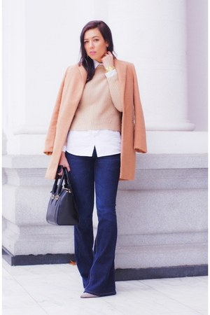 Sheinside coat - Zara sweater