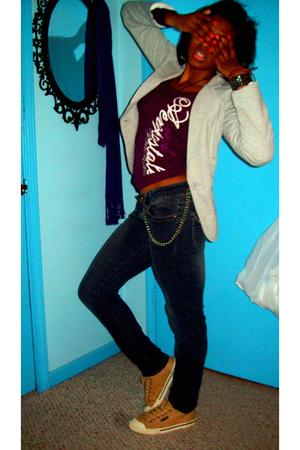 jacket - Aeropostale shirt - bubblegirl jeans