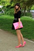black Monki shirt - bubble gum Bershka bag - black studded Miss Selfridge belt