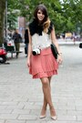 Peach-max-co-dress-black-massimo-dutti-scarf-light-pink-zara-heels