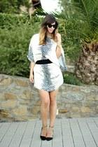 animal print Zara dress - Zara heels