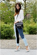 black PROENZA SCHOULER bag - sky blue 31 Phillip Lim pants - white Zara wedges