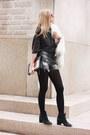 Dark-gray-h-m-shirt-black-calvin-klein-boots-off-white-zara-coat