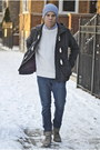 Heather-gray-suede-all-saints-boots-charcoal-gray-hawkings-mcgill-coat