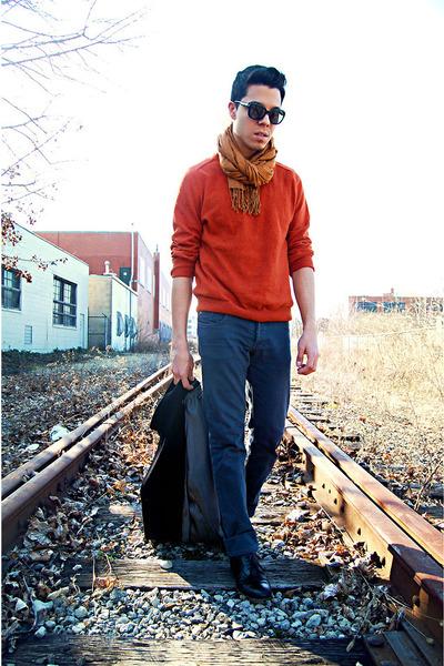 JCrew sweater - Bally shoes - banana republic coat - Kill City jeans