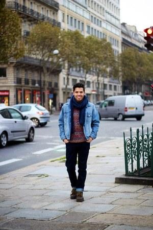 denim Levis jeans - denim jacket Topman jeans