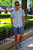Topman shirt - J Crew shorts - Cole Haan sunglasses