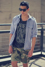 Gray-obey-t-shirt-charcoal-gray-clarks-boots-olive-green-obey-shorts