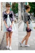 H&M jacket - new look dress - Primark bag - Primark flats