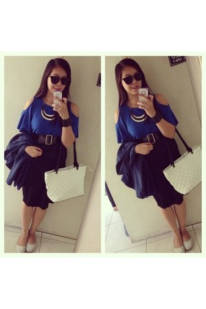 black Sunnies By Charlie glasses - Chanel bag - Forever 21 skirt