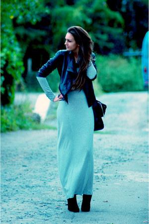 MOBO by Lesley Mobo dress - Rick Owen boots - Alexander Wang jacket - Celine bag