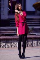 YSL dress - Christian Louboutin heels - Cartier watch - bulgari necklace