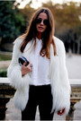 Balmain-coat-alexander-mcqueen-purse-ray-ban-sunglasses