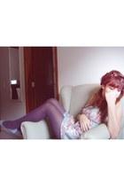 patch work dress - socks - glitter blue Melissa  Campana flats