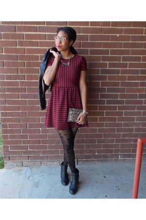 crimson striped Forever 21 dress