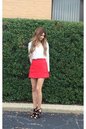 red Express skirt