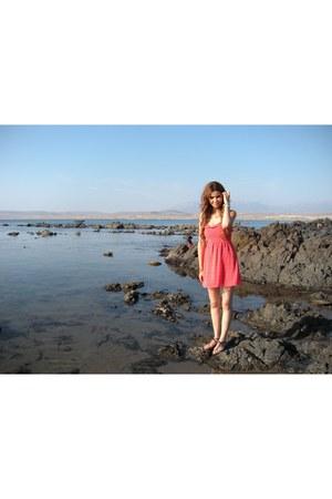 red summer dress dress