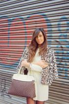 Northland dress - faux fur Northland coat - Rinascimento bag