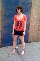flea market shirt - forever 21 shorts