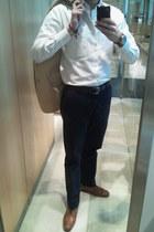 vintage brogues Zara shoes - beige Zara blazer - white Sacoor shirt