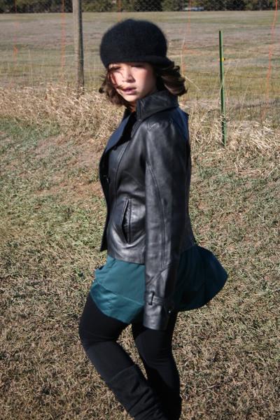bagatelle coat - forever 21 dress - Target leggings - boots