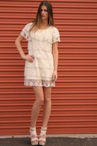 vintage dress - beige Joes Jeans shoes