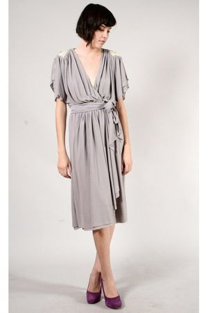 gray vintage dress - purple Report Signature shoes