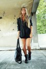 Black-zara-dress-black-zara-blazer-black-zara-bag