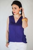 Zara blouse - Zara pants - Mecori earrings - next heels