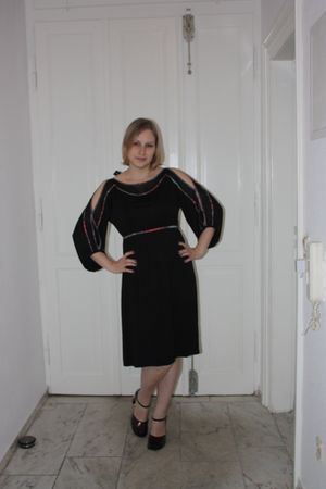 black St Martins dress - black Belmondo shoes