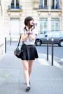 Black-leather-lancaster-bag-studded-leather-topshop-flats