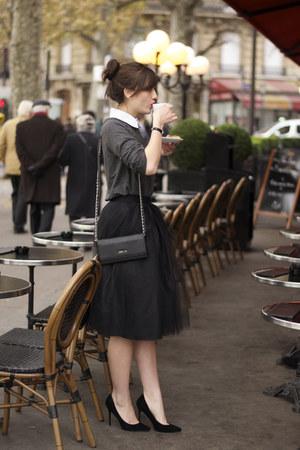 grey Buckley K sweater - black Kate Lee bag - black Bliss Tulle skirt