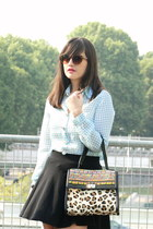 Manoush bag - Manoush shirt - flirty skirt H&M skirt