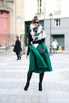 choies Green Skirt skirt - kate lee Black black bag