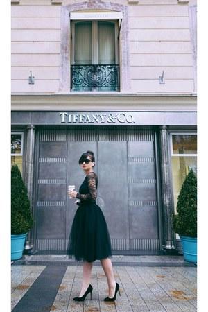 black black heels - black black tulle skirt