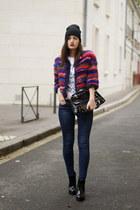 Manoush jacket - Golden Lane bag - black and white Tessa Florence t-shirt