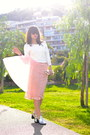 Pink-net-dorothy-perkins-skirt-white-suncoo-jumper
