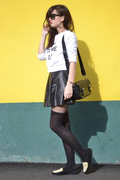 black Zara bag - black and white American Retro shoes