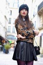 Nordbron hat - black Pimkie boots - brown leopard Zara sweater