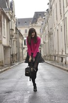 flirty blue Manoush skirt - black Pimkie boots - black asos bag