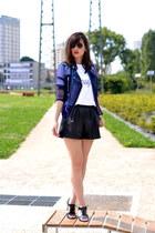 purple Tally Weijl jacket - white cotton Monsieur jacket
