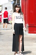 Forever 21 skirt - Primark t-shirt - Zara sandals