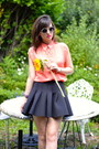 Coral-danity-shirt-black-neoprene-h-m-skirt
