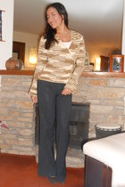 space dyed wrap Old Navy sweater - suede banana republic pumps