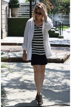 white thrifted shirt - dark brown Target sunglasses - black Forever 21 skirt - b
