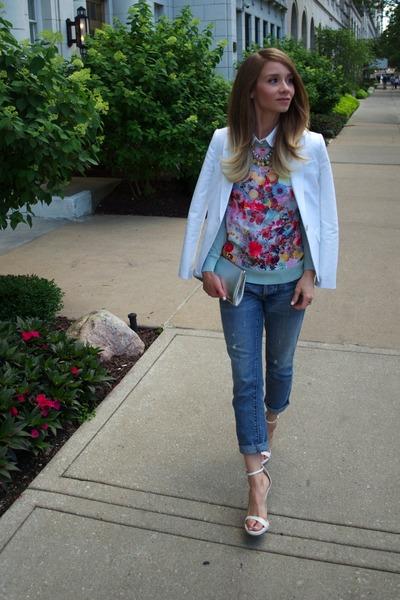 H&M sweater - Banana Republic Factory blazer - boyfriend jeans Loft pants
