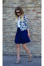 Akira-cardigan-black-oversized-ray-ban-sunglasses-forever21-skirt