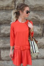 printed tote LAMB bag - burnt orange asos dress