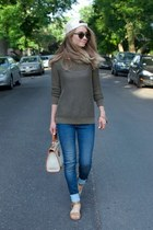 navy skinny jeans Cult of Individuality jeans - dark brown madewell glasses