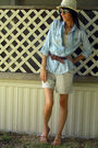 Blue-mileymax-shirt-white-thrifted-top-brown-dollar-general-shoes-white-fo